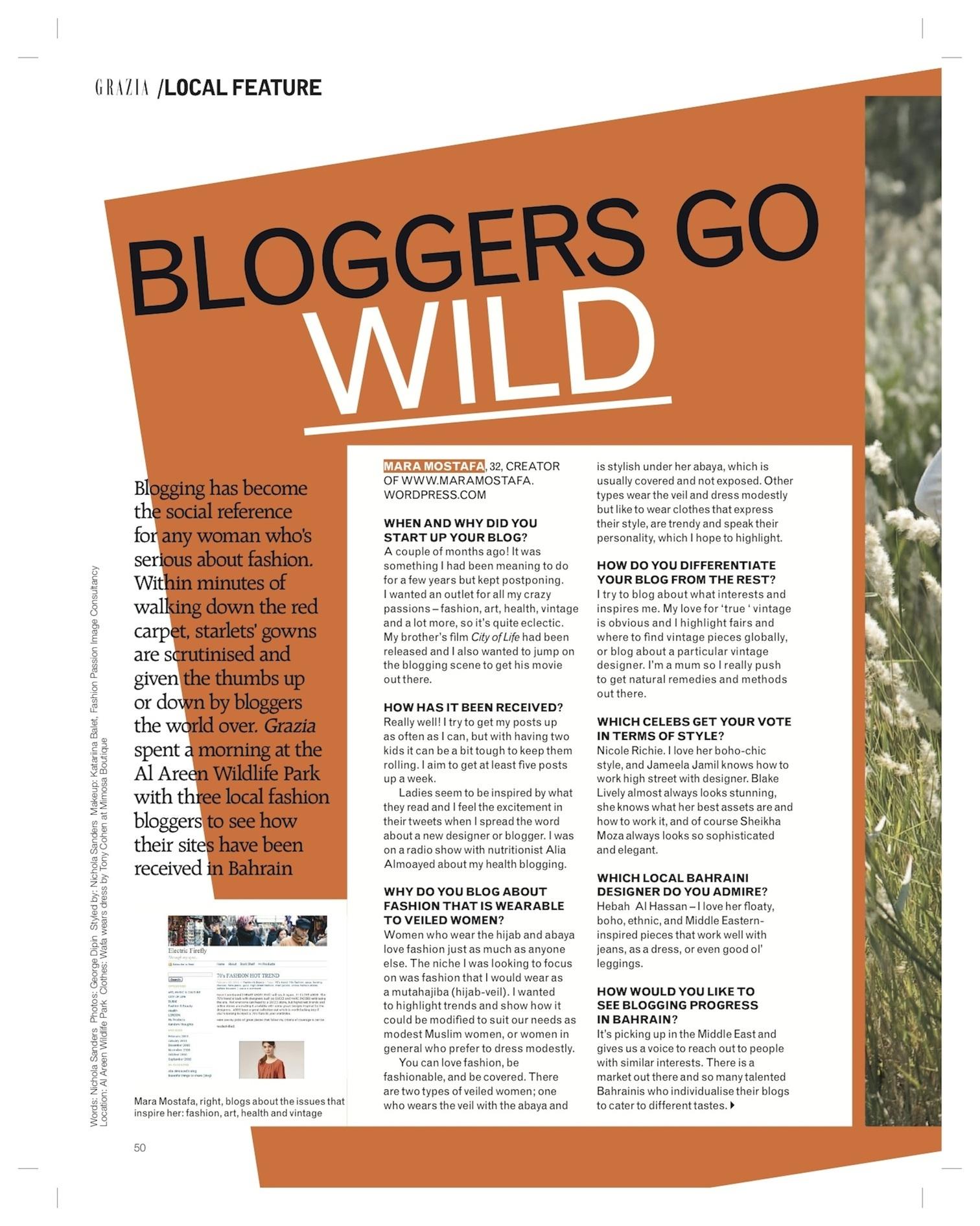 Bloggers Go Wild-Our Grazia Photoshoot!!!