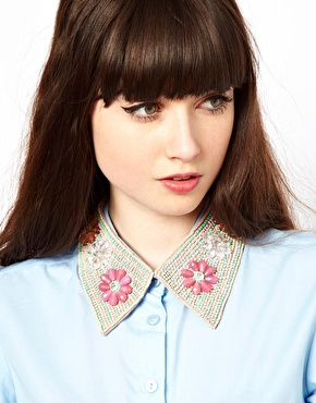 ASOS Rossetti Floral Collar Necklace