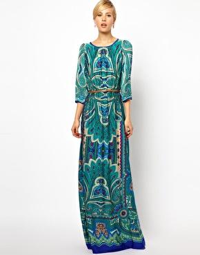 Mango Paisley Print Maxi Dress