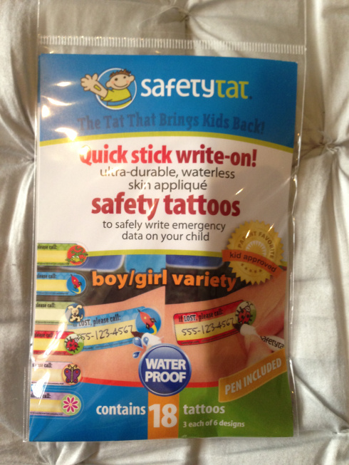 Keep Kids Safe- I.D Tattoos For Your Kids