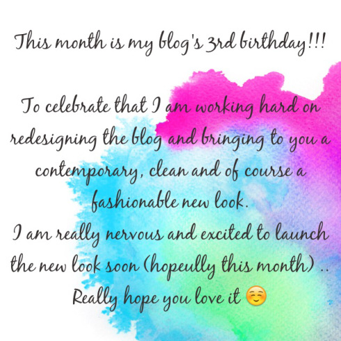Special Announcement- *3rd blog birthday news*