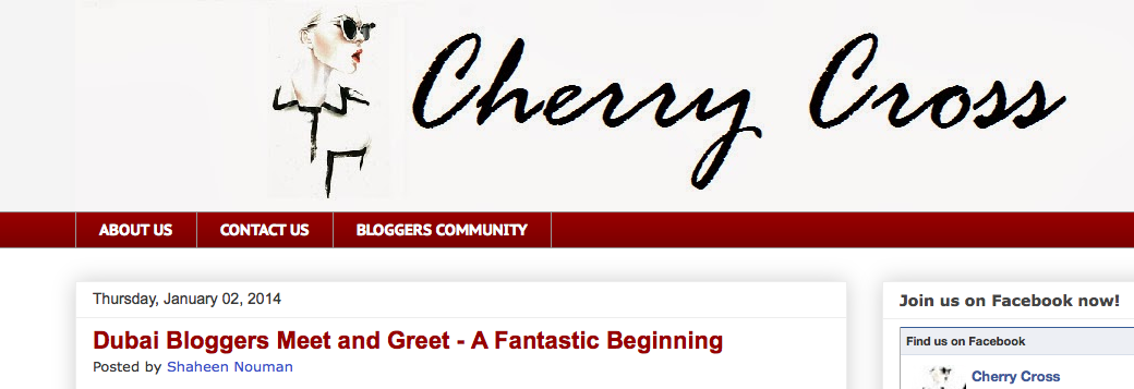 Featured in- Cherry Cross Blog- January 2014