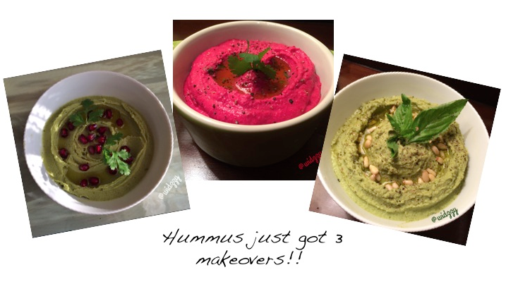 Hummus with a Twist- 3 recipes in one post by Widzzy